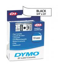 """Dymo D1 45803 Polyester 3/4"""" x 23 ft. Label Maker Tape, Black on White"""