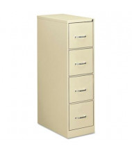"OIF 41106 4-Drawer 26.5"" Deep Economy Vertical File Cabinet, Letter Size, Putty"