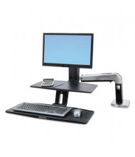 Ergotron WorkFit-A Sit-Stand Converter Desk Mount with Suspended Keyboard