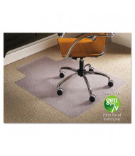 "ES Robbins Low Pile Carpet 45"" W x 53"" L with Lip, Straight Edge Chair Mat 141042"