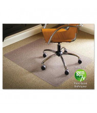 "ES Robbins Low Pile Carpet 46"" W x 60"" L, Straight Edge Chair Mat 141052"