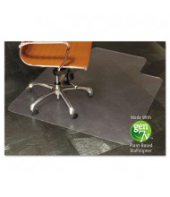 "ES Robbins All Surfaces 45"" W x 53"" L with Lip, Straight Edge Chair Mat 143012"