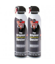 Falcon Dust-Off 17oz Disposable Compressed Gas Duster Can, 2/Pack