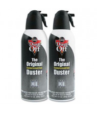 Falcon Dust-Off 10oz Disposable Compressed Gas Duster Can, 2/Pack