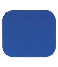 "Fellowes 9"" x 8"" Polyester Nonskid Mouse Pad, Blue"