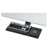 "Fellowes Designer Suites 17-5/16"" Track Compact Keyboard Tray, Black"