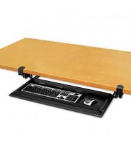 """Fellowes Designer Suites 10-1/2"""" Track DeskReady Keyboard Drawer, Black Pearl"""