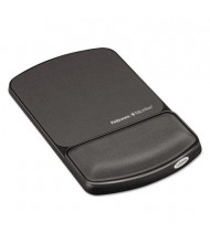 "Fellowes 6-3/4"" x 10-1/8"" Mouse Pad Wrist Support with Microban Protection, Graphite/Black"