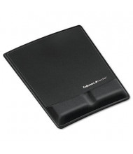 """Fellowes 8-1/4"""" x 9-7/8"""" Microban Memory Foam with Wrist Support, Black"""