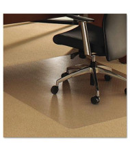"Floortex Cleartex Ultimat Carpet 48"" W x 79"" L, Beveled Edge Chair Mat 1120023ER"