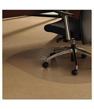 "Floortex Cleartex Ultimat Carpet 49"" W x 39"" L, Contoured Straight Edge Chair Mat 119923SR"