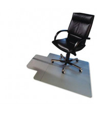 "Floortex Cleartex Ultimat Hard Floor 48"" W x 53"" L With Lip, Beveled Edge Chair Mat 1213419LR"