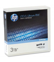 "HP C7975A Ultrium LTO-5 1.5/3TB 1/2"" Data Tape Media Cartridge, 1/Pack"