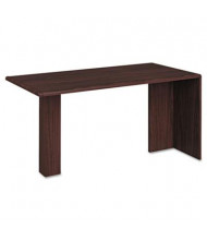"HON 10700 Series 60"" Peninsula Desk, Mahogany"