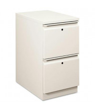 HON Flagship 18823RQ 2-Drawer File/File Radius Pull Mobile Pedestal, Light Gray