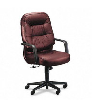 HON Pillow-Soft 2091 Leather High-Back Executive Office Chair, Burgundy