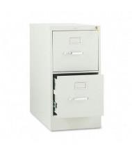 "HON 212PQ 2-Drawer 28.5"" Deep Vertical File Cabinet, Letter Size, Light Gray"