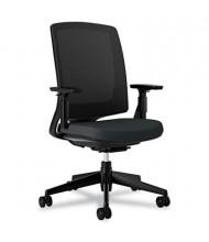 HON Lota 2281 Weight Activated Tilt Mesh Mid-Back Task Chair, Black