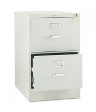 "HON 312CPQ 2-Drawer 26.5"" Deep Vertical File Cabinet, Legal Size, Light Gray"