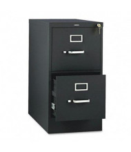 "HON 312PP 2-Drawer 26.5"" Deep Vertical File Cabinet, Letter Size, Black"