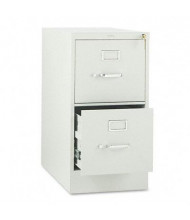 "HON 312PQ 2-Drawer 26.5"" Deep Vertical File Cabinet, Letter Size, Light Gray"