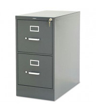 "HON 312PS 2-Drawer 26.5"" Deep Vertical File Cabinet, Letter Size, Charcoal"