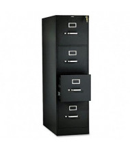 "HON 314PP 4-Drawer 26.5"" Deep Vertical File Cabinet, Letter Size, Black"