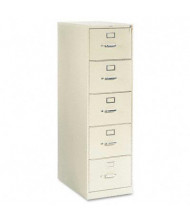 "HON 315CPL 5-Drawer 28.5"" Deep Vertical File Cabinet, Legal Size, Putty"