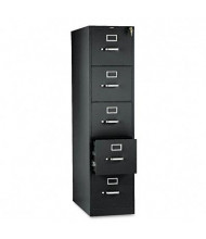 "HON 315PP 5-Drawer 26.5"" Deep Vertical File Cabinet, Letter Size, Black"
