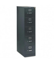 """HON 315PS 5-Drawer 26.5"""" Deep Vertical File Cabinet, Letter Size, Charcoal"""