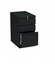 HON Brigade 33723RP 3-Drawer Box/Box/File Radius Pull Mobile Pedestal, Black
