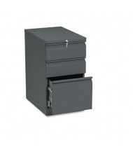 HON Brigade 33723RS 3-Drawer Box/Box/File Radius Pull Mobile Pedestal, Charcoal