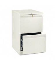 HON Efficiencies 33820RL 2-Drawer File/File Radius Pull Mobile Pedestal, Putty