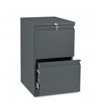 HON Efficiencies 33820RS 2-Drawer File/File Radius Pull Mobile Pedestal, Charcoal
