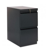HON Brigade 33823RP 2-Drawer File/File Radius Pull Mobile Pedestal, Black