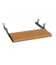 "HON 17"" Track Slide-Away Laminate Keyboard Platform, Harvest"