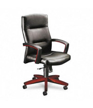 HON Park Avenue 5001 Leather Wood High-Back Executive Chair