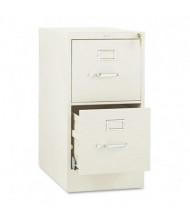 "HON 512PL 2-Drawer 25"" Deep Vertical File Cabinet, Letter Size, Putty"