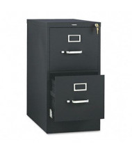 "HON 512PP 2-Drawer 25"" Deep Vertical File Cabinet, Letter Size, Black"