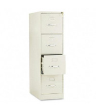 "HON 514PL 4-Drawer 25"" Deep Vertical File Cabinet, Letter Size, Putty"