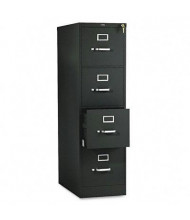 "HON 514PP 4-Drawer 25"" Deep Vertical File Cabinet, Letter Size, Black"