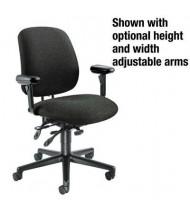 HON 7708 Multifunction Fabric Mid-Back Task Chair, Black