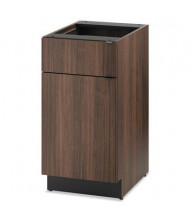 "HON Hospitality 24"" D Door/Drawer Single Base Cabinet, Colombian Walnut"