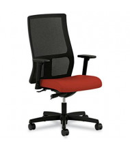 HON Ignition IW103 Mesh-Back Fabric Mid-Back Executive Office Chair, Red