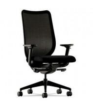 HON Nucleus N103 Ilira-Stretch Mesh Mid-Back Executive Office Chair, Black/Black