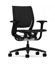 HON Purpose RW101 Flexing Fabric Mid-Back Task Chair, Black/Black