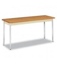 "HON UTM2060CLCHR 60"" W x 20"" D Rectangular Utility Table, Harvest"