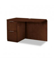 "HON Arrive Wood Veneer 48"" Left Return with Pedestal, Shaker Cherry"