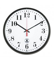 "Chicago Lighthouse 12.8"" Contemporary Atomic Wall Clock, Black"