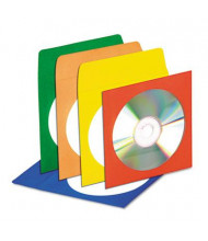 Innovera 50-Pack CD & DVD Envelopes with Clear Window, Assorted Colors